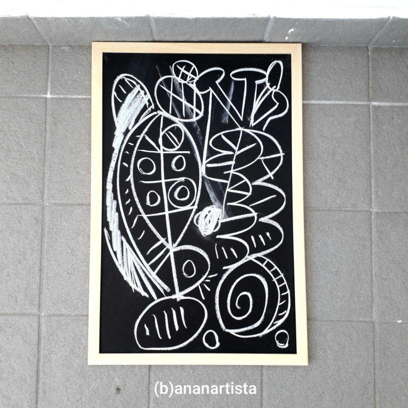 abstract chalk art by (b)ananartista sbuff