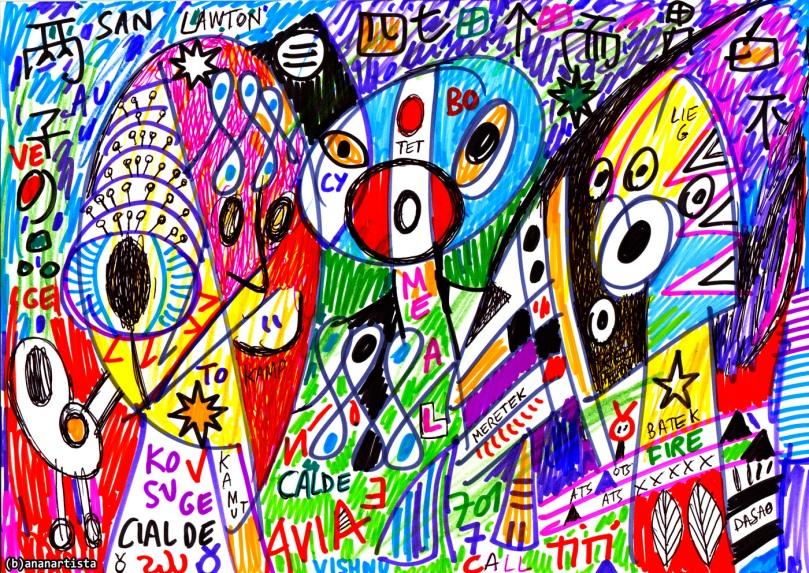 cialde calde vishnu visionary art by (b)ananartista sbuff