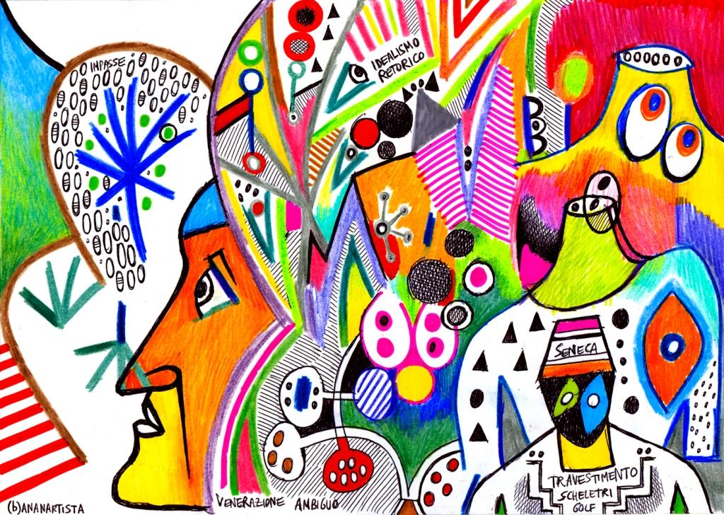 dentro alla mia testa, disegno di (b)ananartista sbuff