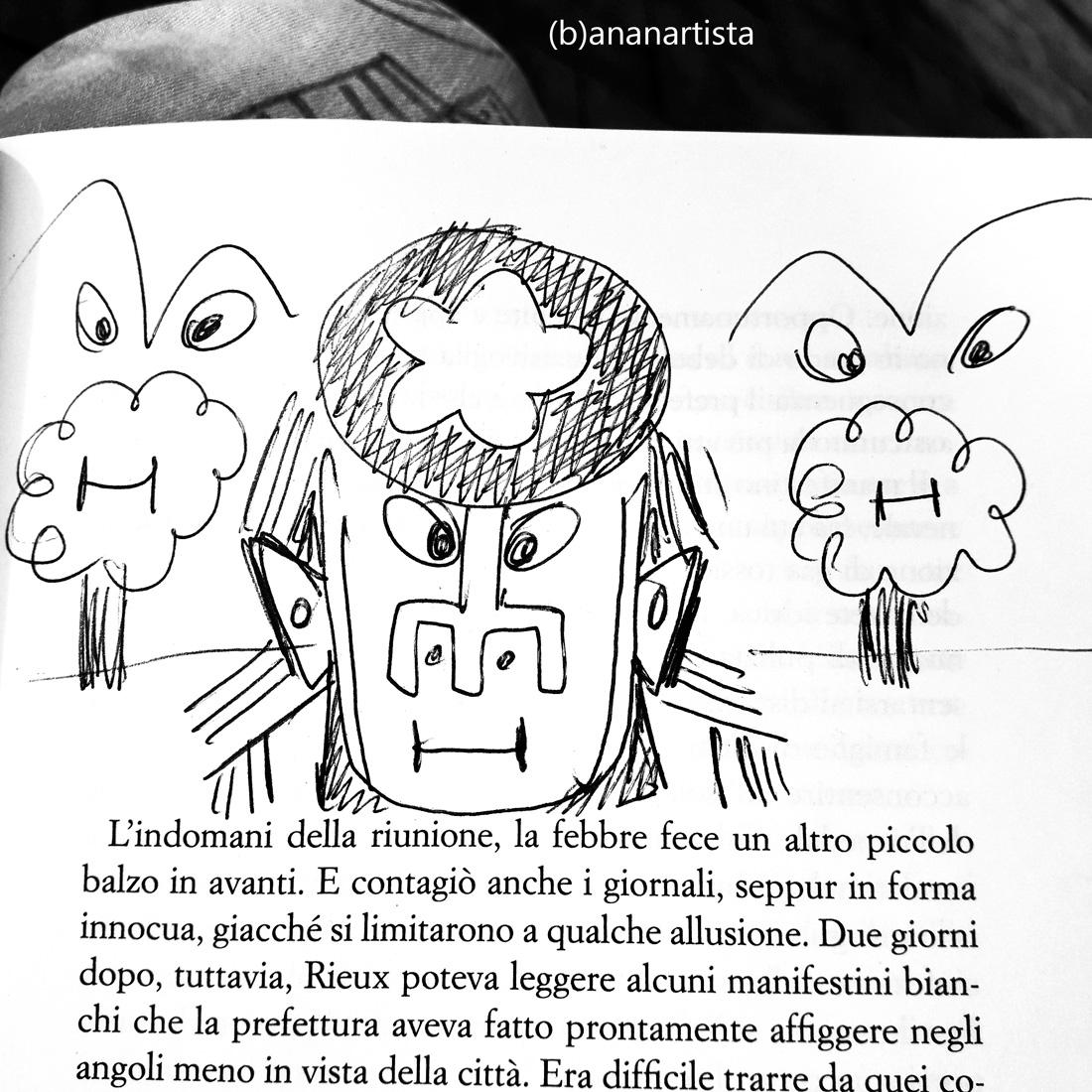 disegno sulla peste di camus di (b)ananartista sbuff