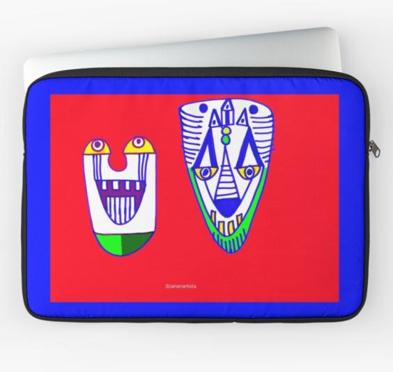 redbubble (b)ananartista amiconi bricconi painting laptop sleeve macbook air pro retina art shop