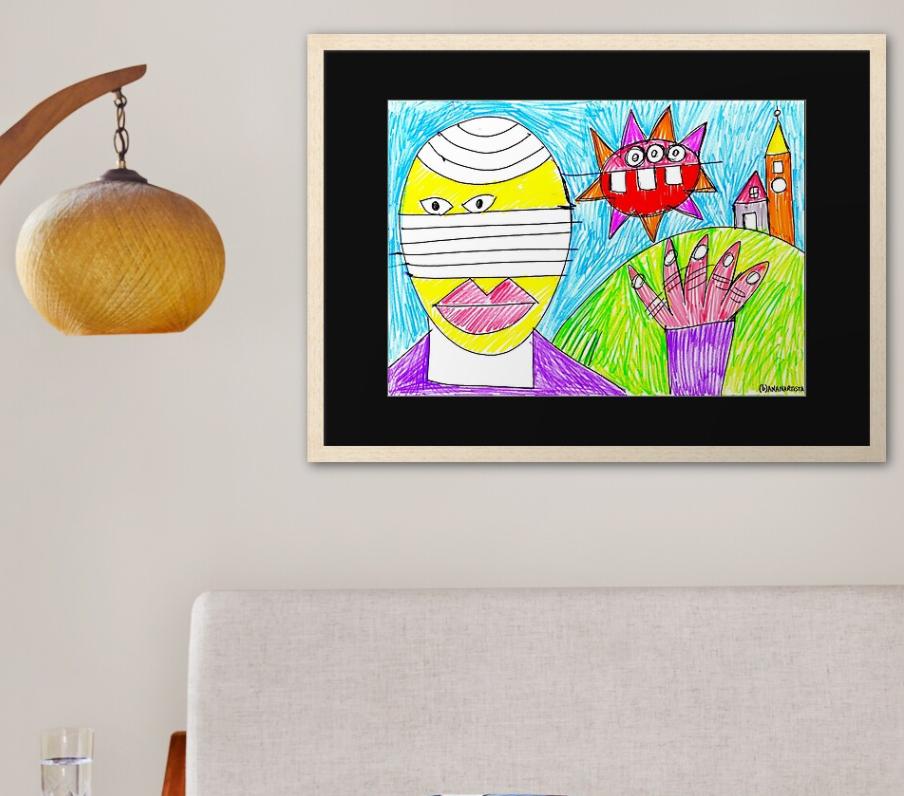 redbubble (b)ananartista saluti da nizza monferrato outsider framed art print shop size large cornice