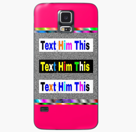 redbubble (b)ananartista text him this case skin for samsung galaxy pop art shop