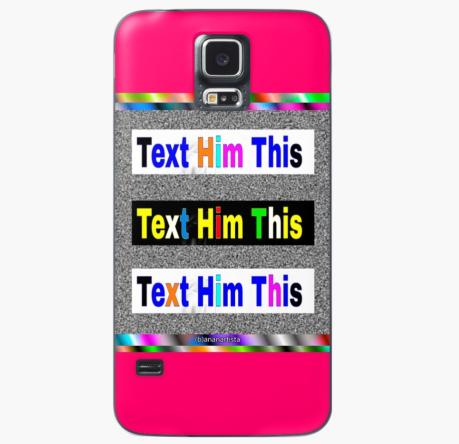redbubble (b)ananartista text him this case skin for samsung galaxy pop art shop