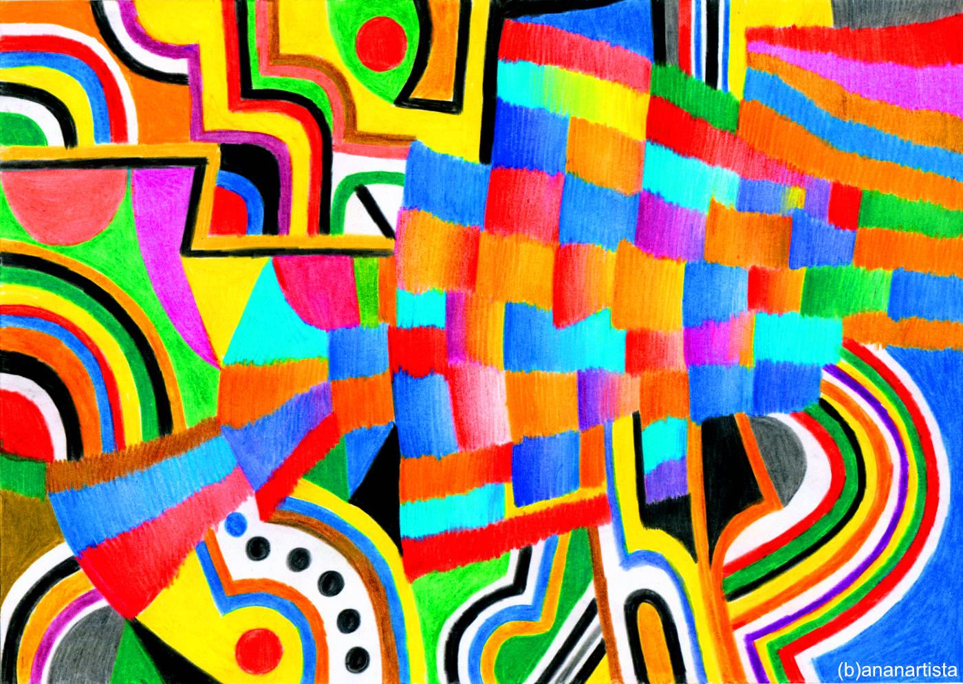campi di gioia nel mio cuore arte astratta di (b)ananartista sbuff