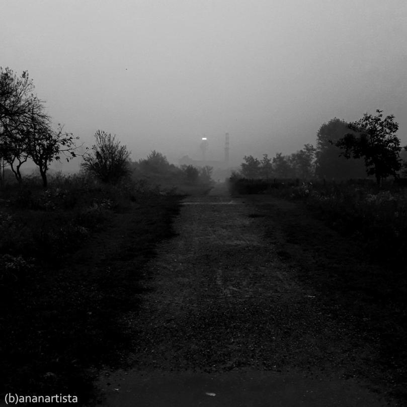 empty road leading nowhere black and white photography  by (b)ananartista sbuff