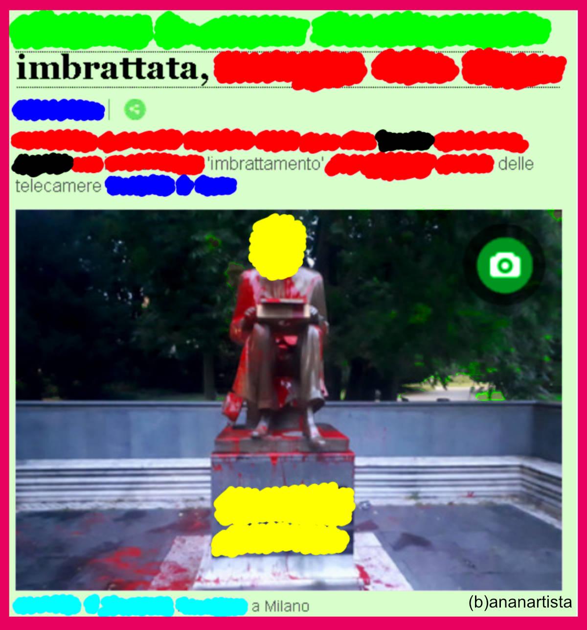 imbrattata imbrattamento milano by (b)ananartista sbuff