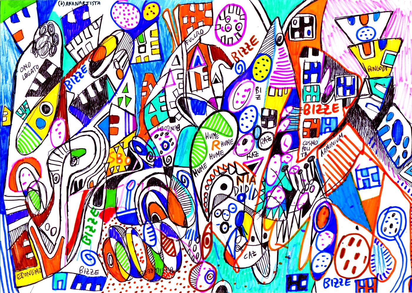 paese di bengodi - arte astratta di (b)ananartista sbuff