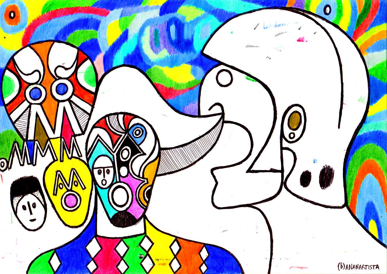 arlecchino va in guerra arte contemporanea di (b)ananartista sbuff