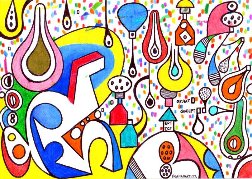 paesaggio metafisico pittura di (b)ananartista sbuff