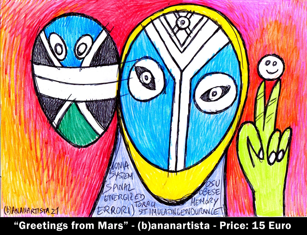 greetings from mars - by (b)ananartista sbuff