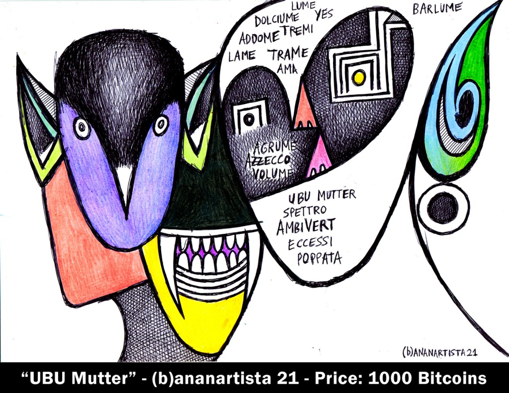 ubu mutter - drawing by (b)ananartista sbuff - 1000 bitcoins